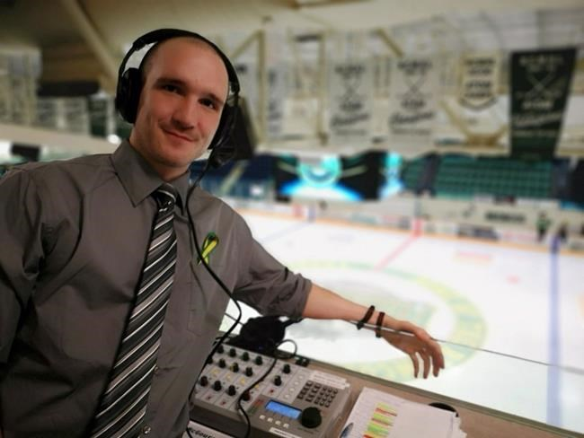 Rory McGouran is shown during the Humboldt Broncos' home opener in Humboldt, Sask., on Wednesday, Sept.12, 2018 against the Nipawin Hawks. THE CANADIAN PRESS/HO-Rory McGouran MANDATORY CREDIT