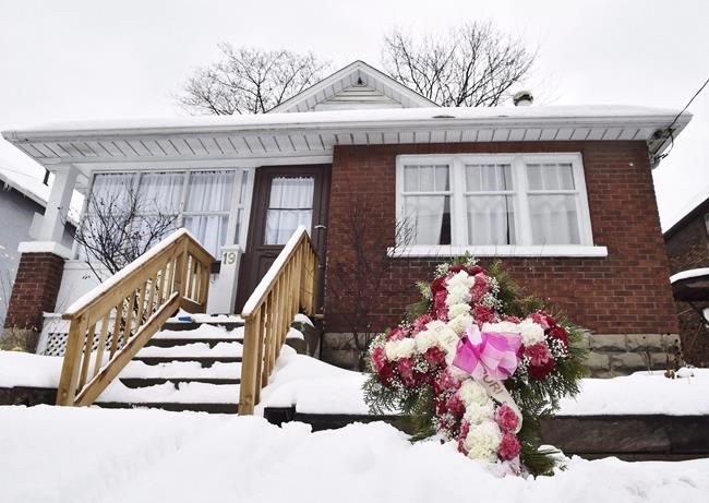 A home where body parts were found in a basement apartment is seen in Oshawa, Ont. on Monday, January 8, 2018. Police will give an update today on their investigation into the death of a pregnant teen whose remains were found east of Toronto. A fisherman discovered a torso in Lake Ontario in September 2017 that police linked by DNA testing to 18-year-old Rori Hache of Oshawa, Ont.THE CANADIAN PRESS/Frank Gunn