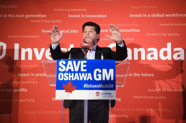 Unifor National President Jerry Dias speaks during press conference in Toronto on January 25, 2019. Jerry Dias is fed up.At labour rallies, press conferences, anywhere people might listen, the head of Unifor has for more than two months been expressing a deep frustration about how General Motors has broken one promise too many with its plan to close its Oshawa Assembly Plant. THE CANADIAN PRESS/Nathan Denette