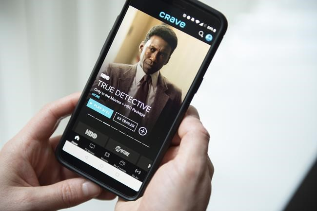 Crave is Bell Media's marquee Canadian streaming platform and includes shows by HBO, Showtime, Starz and other brands, THE CANADIAN PRESS/Graeme Roy