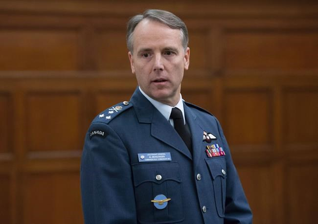 Royal Canadian Air Force Commander Lt.-Gen. Al Meinzinger waits to appear before the House of Commons public accounts committee on Parliament Hill in Ottawa on December 3, 2018. A shortage of experienced pilots is forcing the Royal Canadian Air Force to walk a delicate line between keeping enough seasoned aviators available to train new recruits and lead missions in the air. Air force commander Lt.-Gen. Al Meinzinger described the balancing act during a recent interview with The Canadian Press in which he also revealed many pilots today are likely to have less experience than counterparts in similar positions 10 years ago. THE CANADIAN PRESS/Adrian Wyld