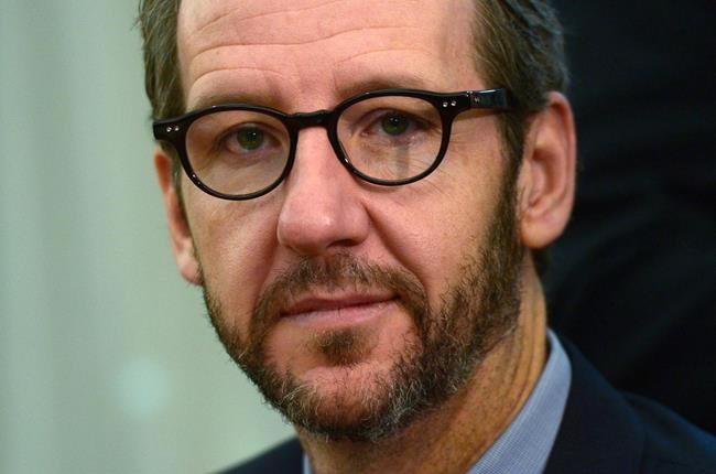 Gerald Butts, principal secretary to Prime Minister Justin Trudeau, takes part in a meeting with Chinese Premier Li Keqiang (not pictured) in the cabinet room on Parliament Hill in Ottawa on Thursday, Sept. 22, 2016. Trudeau's former principal secretary will tell his side of the SNC-Lavalin saga on Wednesday. THE CANADIAN PRESS/Sean Kilpatrick