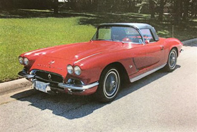 Kenneth Jelley's 1962 Chevrolet convertible Corvette, affectionately named Betsy, is pictured in a handout photo. THE CANADIAN PRESS/HO, Calgary Police Service