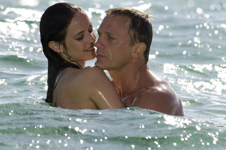 Daniel Craig, right, appears with Eva Green in the 2006 James Bond film, Casino Royale. Whatever their role, Bond girls still must be inarguably beautiful.