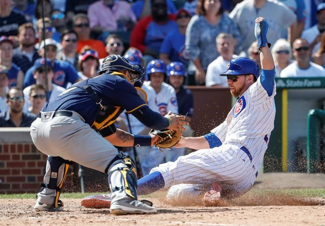 Brewers swept by Cubs 9-6 despite draw 7 walks from Arrieta