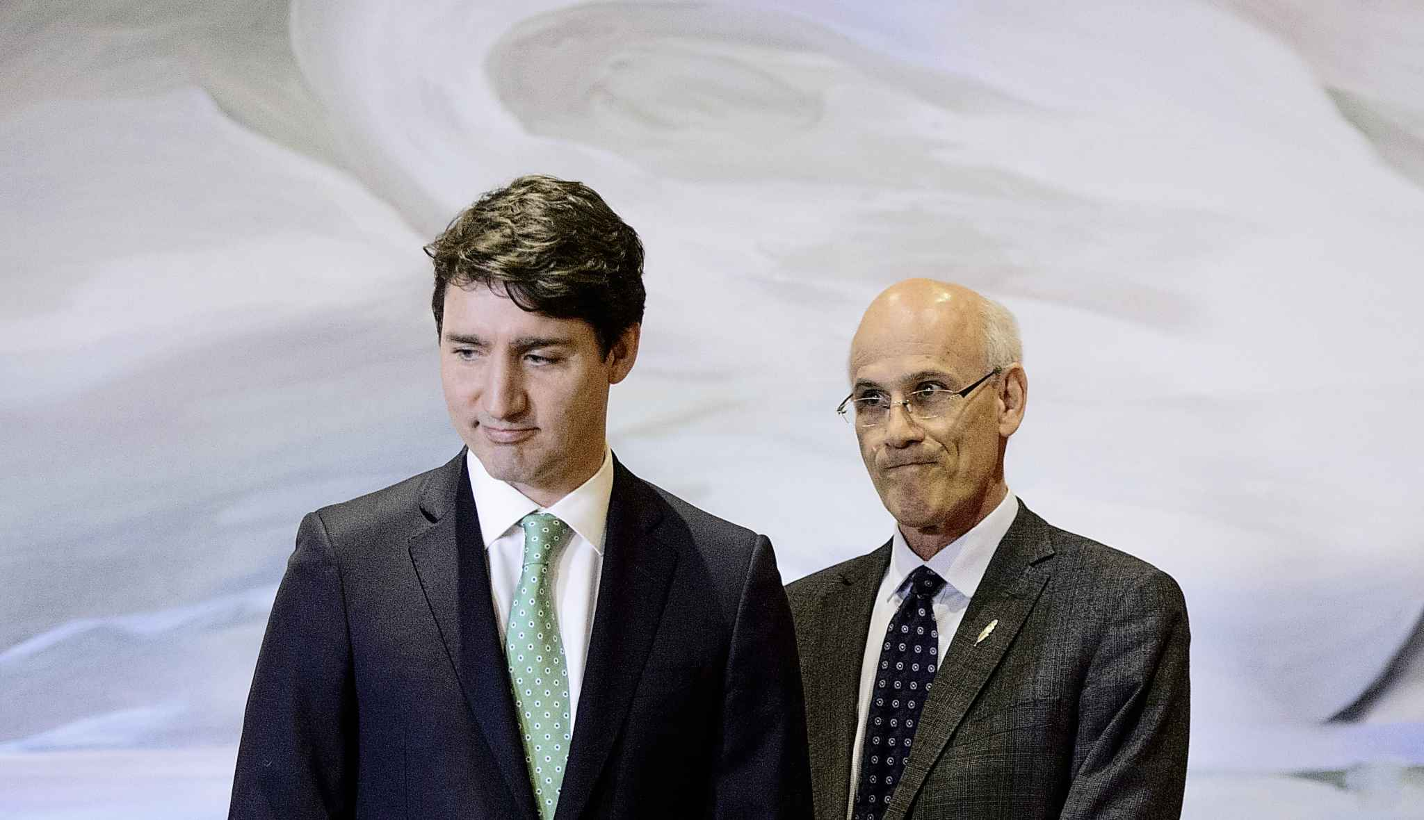 Prime Minister Justin Trudeau and Clerk of the Privy Council Michael Wernick attend a swearing in ceremony at Rideau Hall in Ottawa on Friday, March 1, 2019. (Sean Kilpatrick / The Canadian Press files)