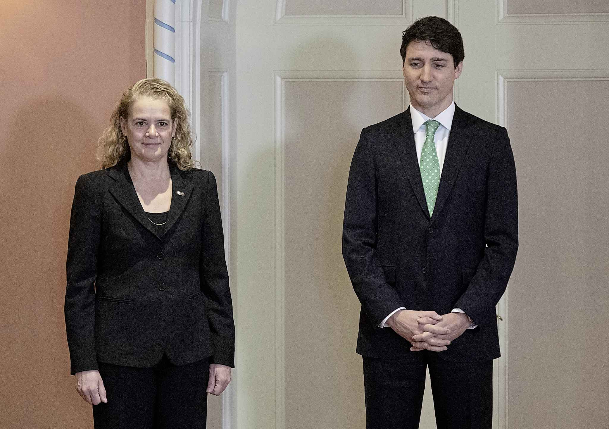 If no party secures a majority, Gov. Gen. Julie Payette may ask Justin Trudeau to form government because under Canada's parliamentary system, prime ministers remain in office throughout elections and retain power until they lose the confidence of the House. (Justin Tang / The Canadian Press files)