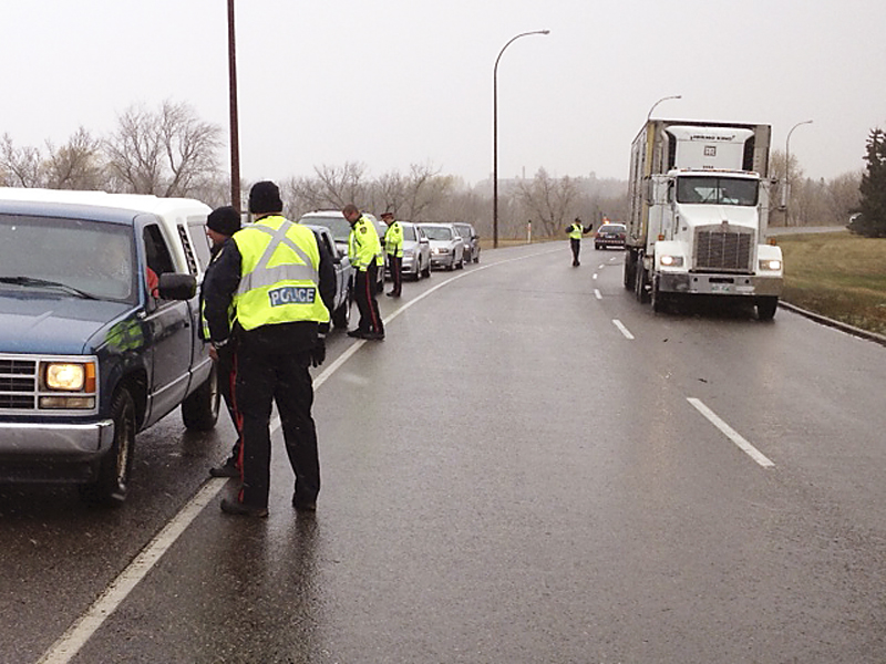 Members of the Brandon Police Service kick off Operation Impact during the Thanksgiving weekend last year.
