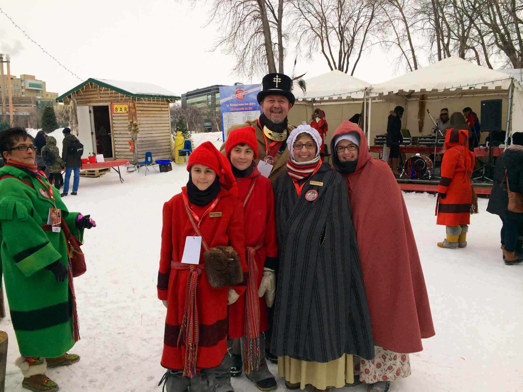 Festival du Voyageur family