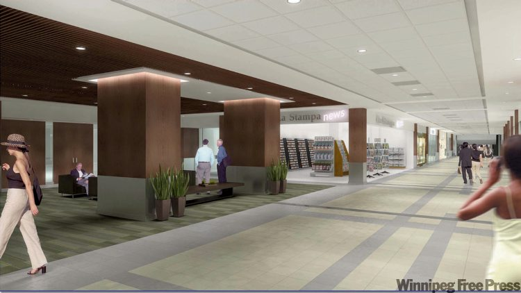 Renovations to Richardson Concourse are part of a three-component project that is expected to attract major new office and retail tenants to the area.