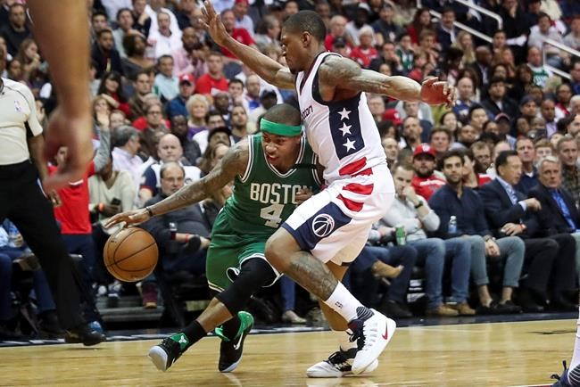 Beal helps Wizards even series with Celtics