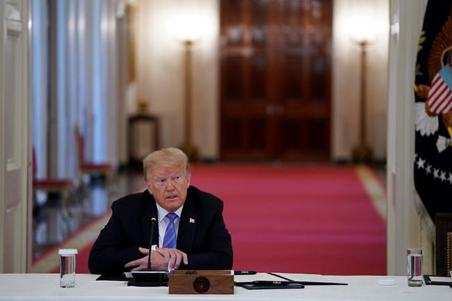 President Donald Trump listens during a meeting with the American Workforce Policy Advisory Board, in the East Room of the White House, Friday, June 26, 2020, in Washington. (AP Photo/Evan Vucci)