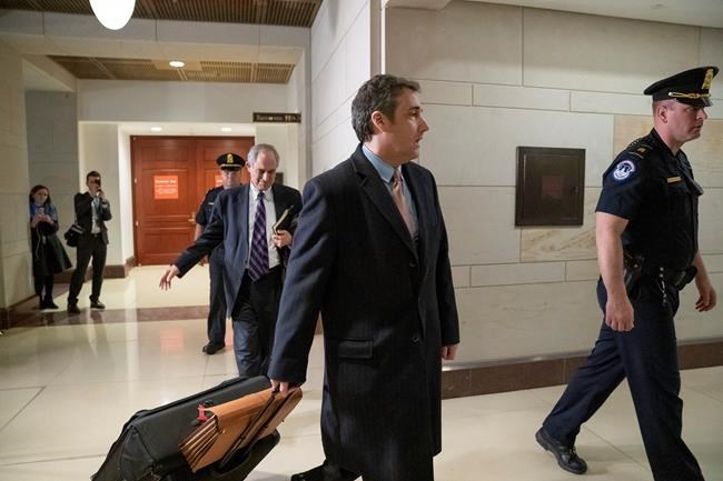 Michael Cohen President Donald Trump's former lawyer departs following a full day of testimony with the House Intelligence Committee behind closed doors as he prepares for a three-year prison sentence for lying to Congress and other charges at the