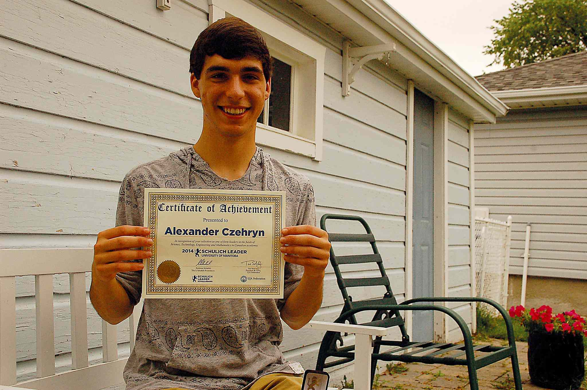 Mennonite Brethren Collegiate Institute graduate Alex Czehryn was recently awarded a 2014 Schulich Leader Scholarship.