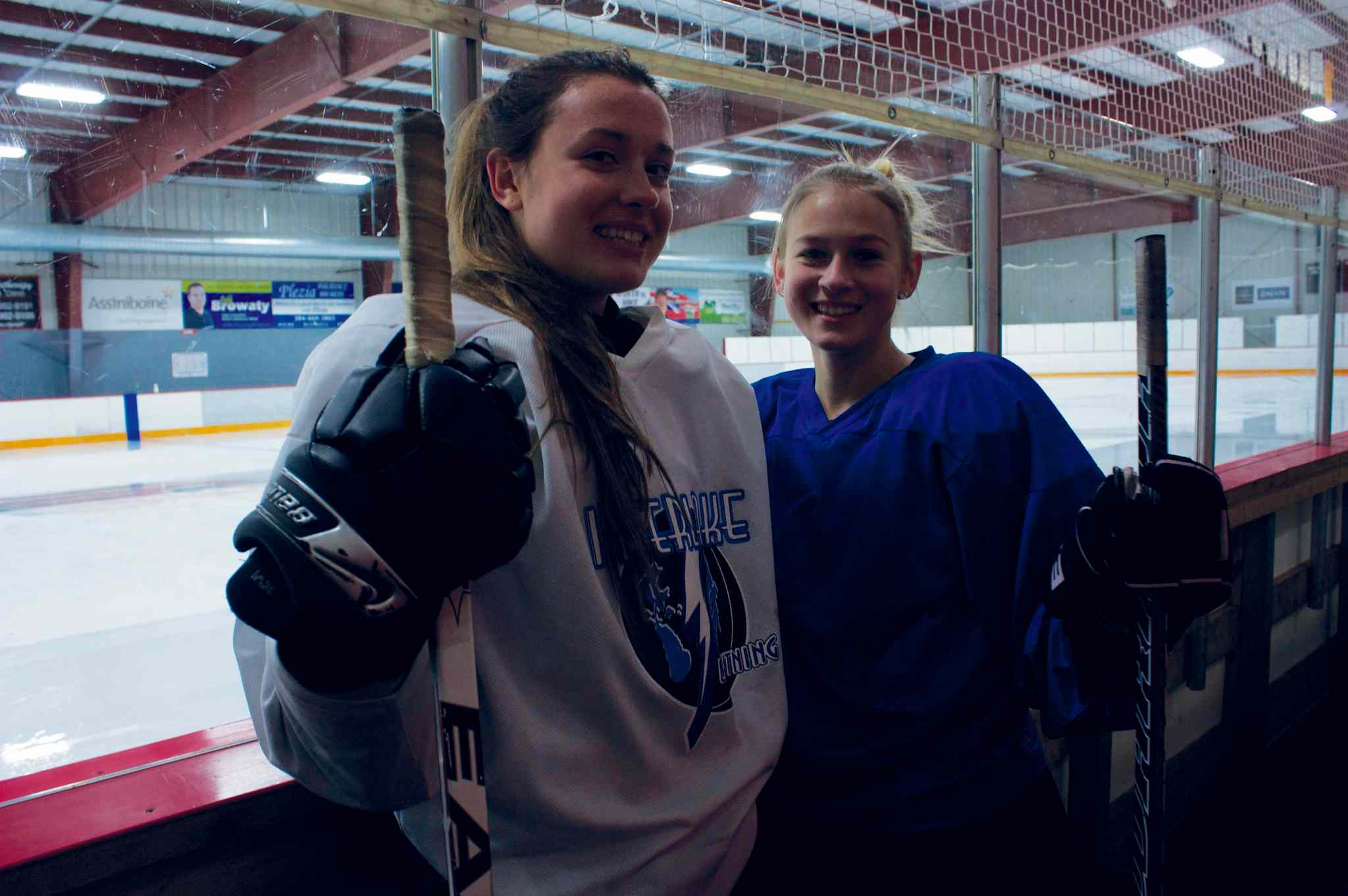 River East Kodiaks players Cassandra Szczepanski and Brittany Poirier are ready to lead the team to face a higher level of competition.