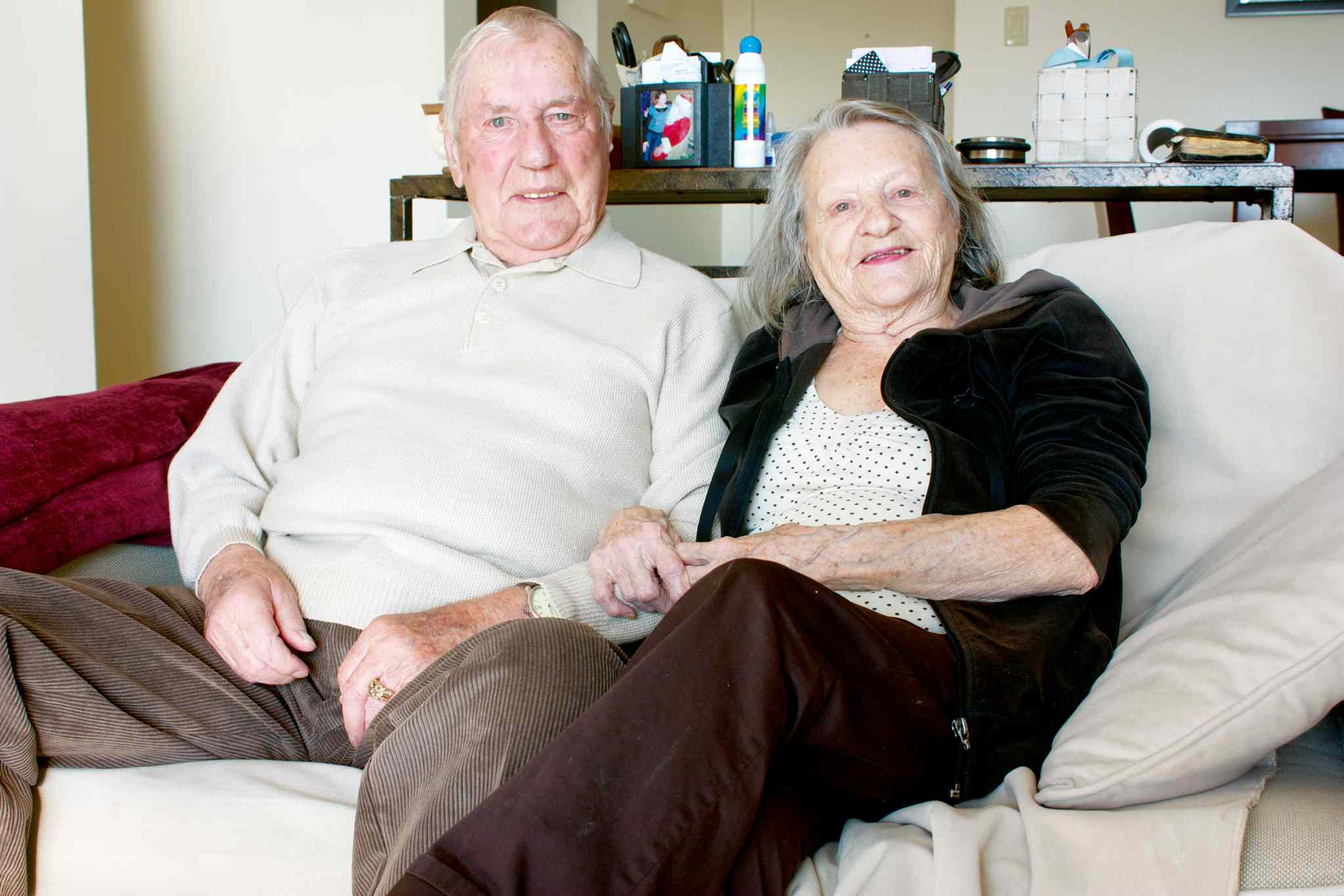 Jacob and Shirley Vanderhorst are shown in their apartment at Edgewood Estates.
