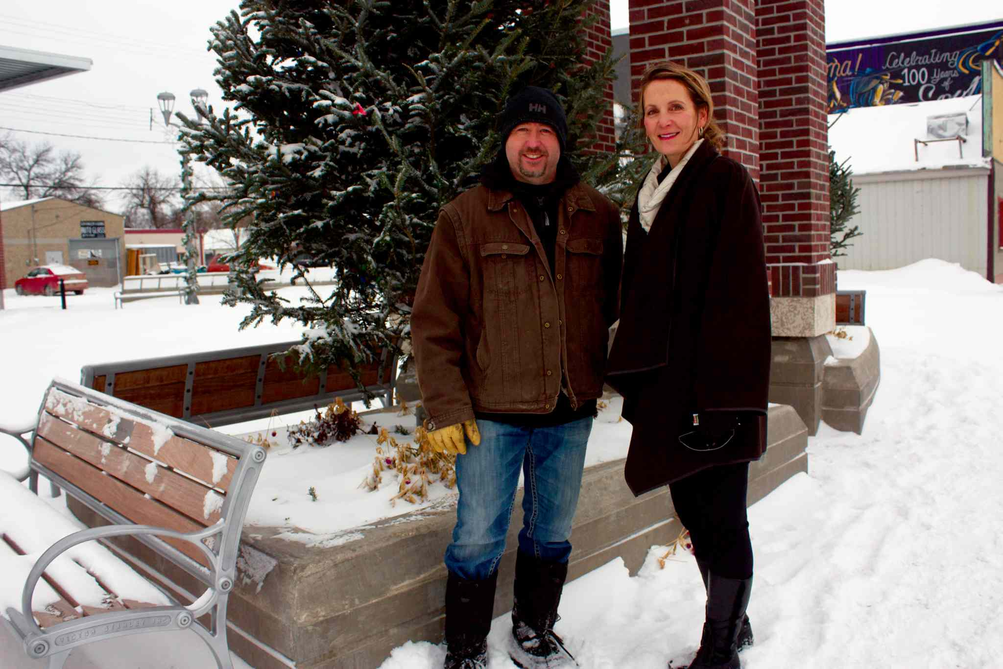 Transcona BIZ executive director Wendy Galagan (right) and president Rick Purling are excited to host a Winter Wonderland event at Transcona Centennial Square.