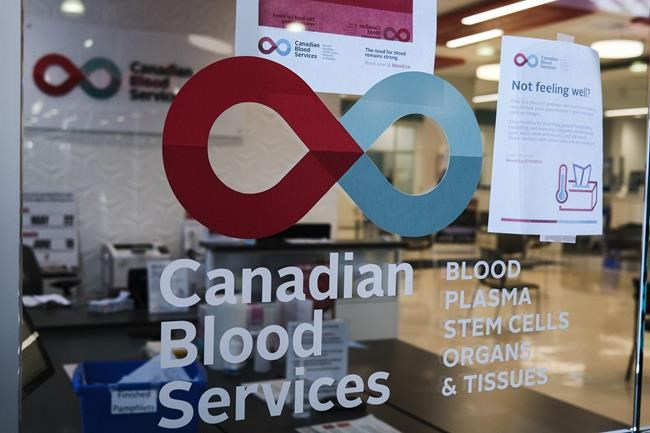A blood donor clinic pictured at a shopping mall in Calgary, Alta., Friday, March 27, 2020. Scientists have been poring over COVID-19 data in an effort to better understand the still unknown aspects of the virus. The key to unlocking some of those mysteries could be in our blood. THE CANADIAN PRESS/Jeff McIntosh