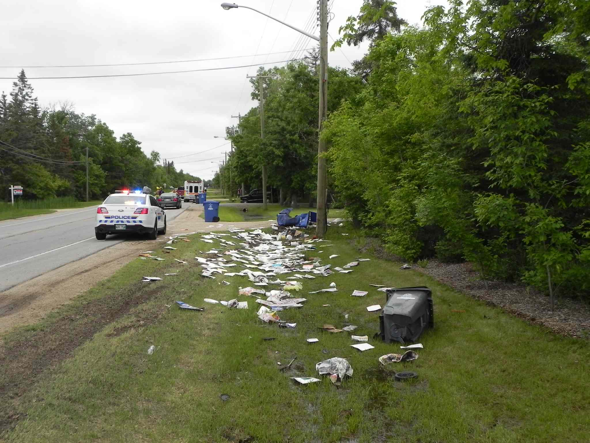 The scene of the crash Tuesday.