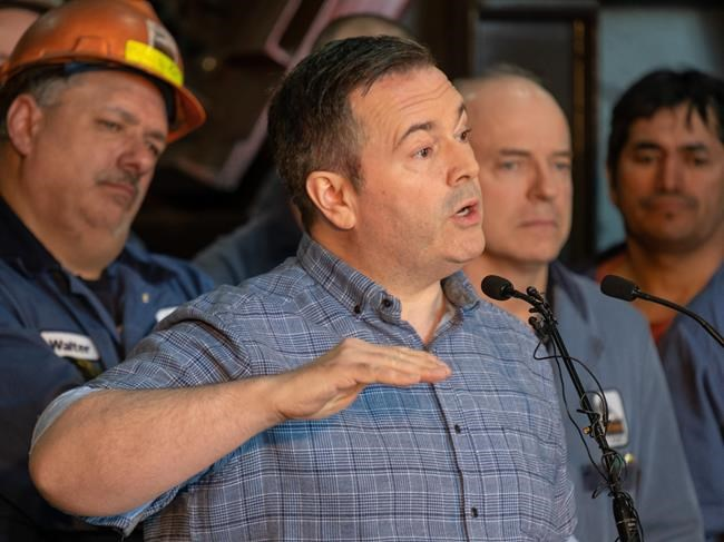 United Conservative Party leader Jason Kenney speaks during a press conference at Lethbridge Iron Works in Lethbridge, Alta. on Wednesday, March 20, 2019. THE CANADIAN PRESS/David Rossiter