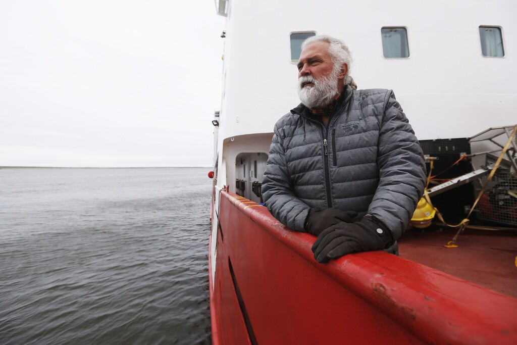 David Barber, pictured aboard the Canadian research vessel Amundsen in 2018, made his first field trip to the Arctic in 1981 looking for evidence of the changing climate.