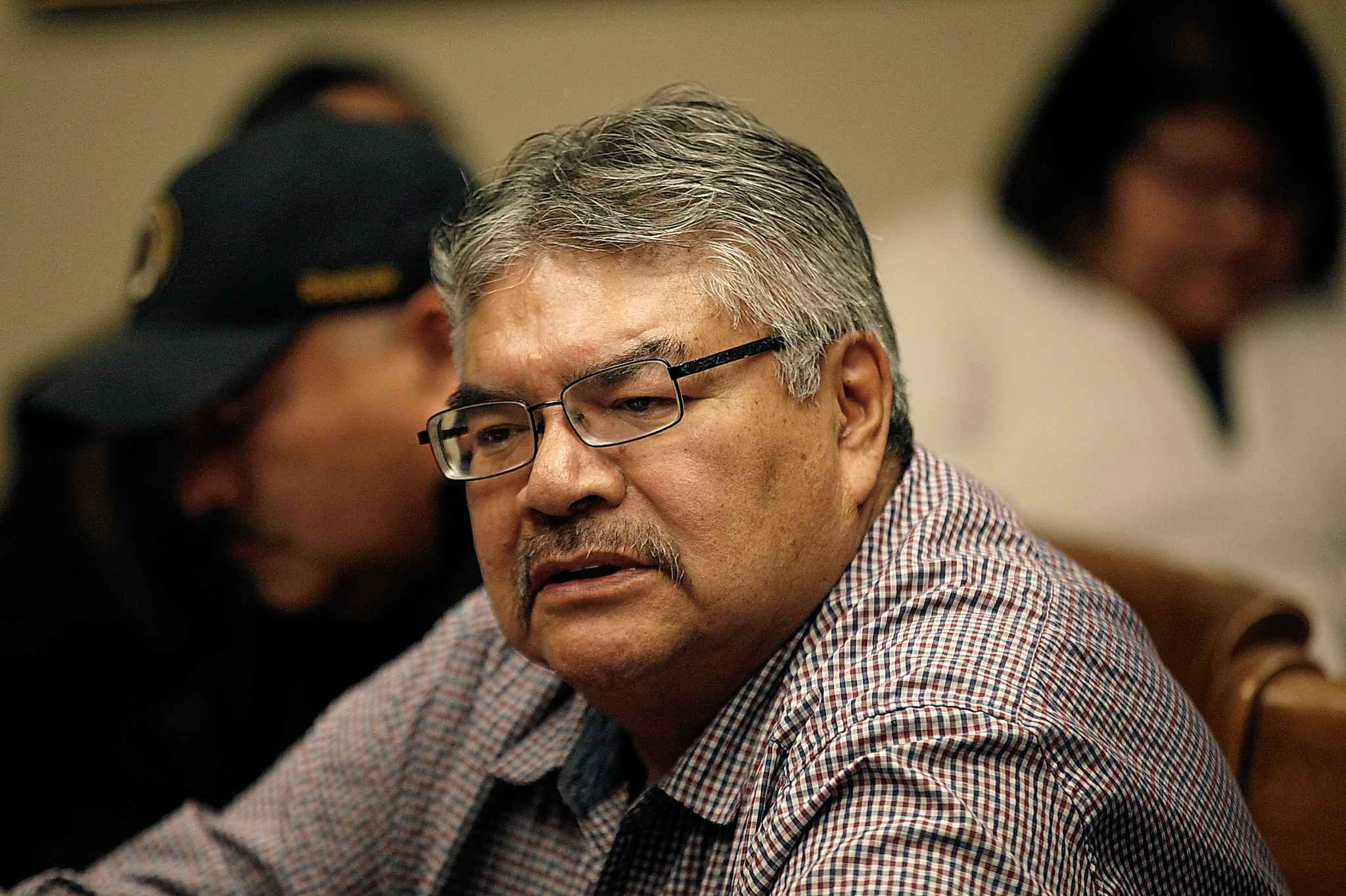 """""""It's a very daunting fight, this battle that we are engaged in,"""" David McDougall, chief of St. Theresa Point, said. (Phil Hossack / Free Press files)"""