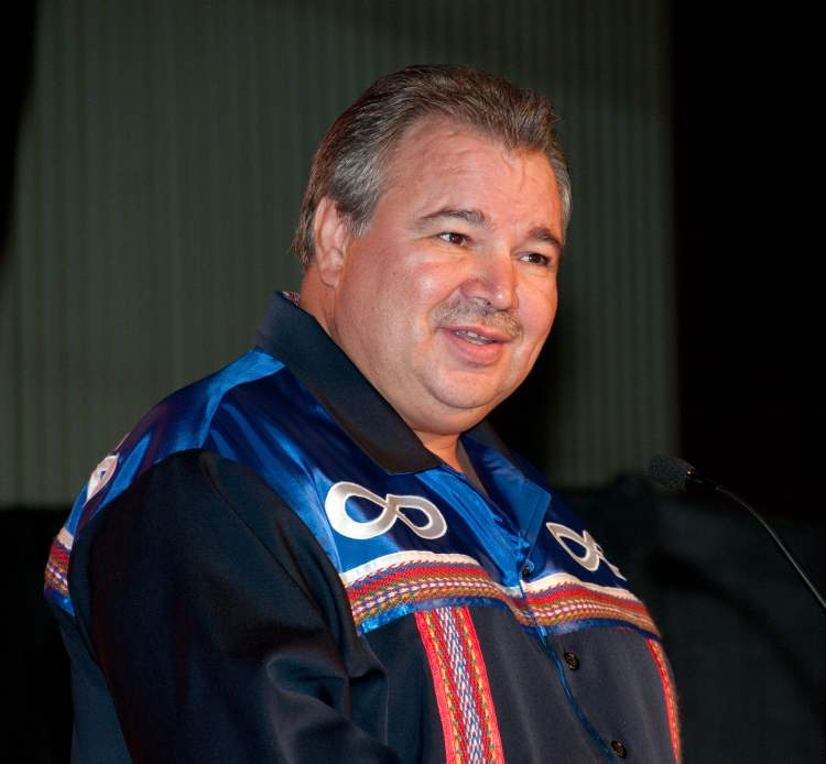 David Chartrand, president of the Manitoba Métis Federation was honoured for promoting issues of social justice and advancing the cause of the Métis Nation.