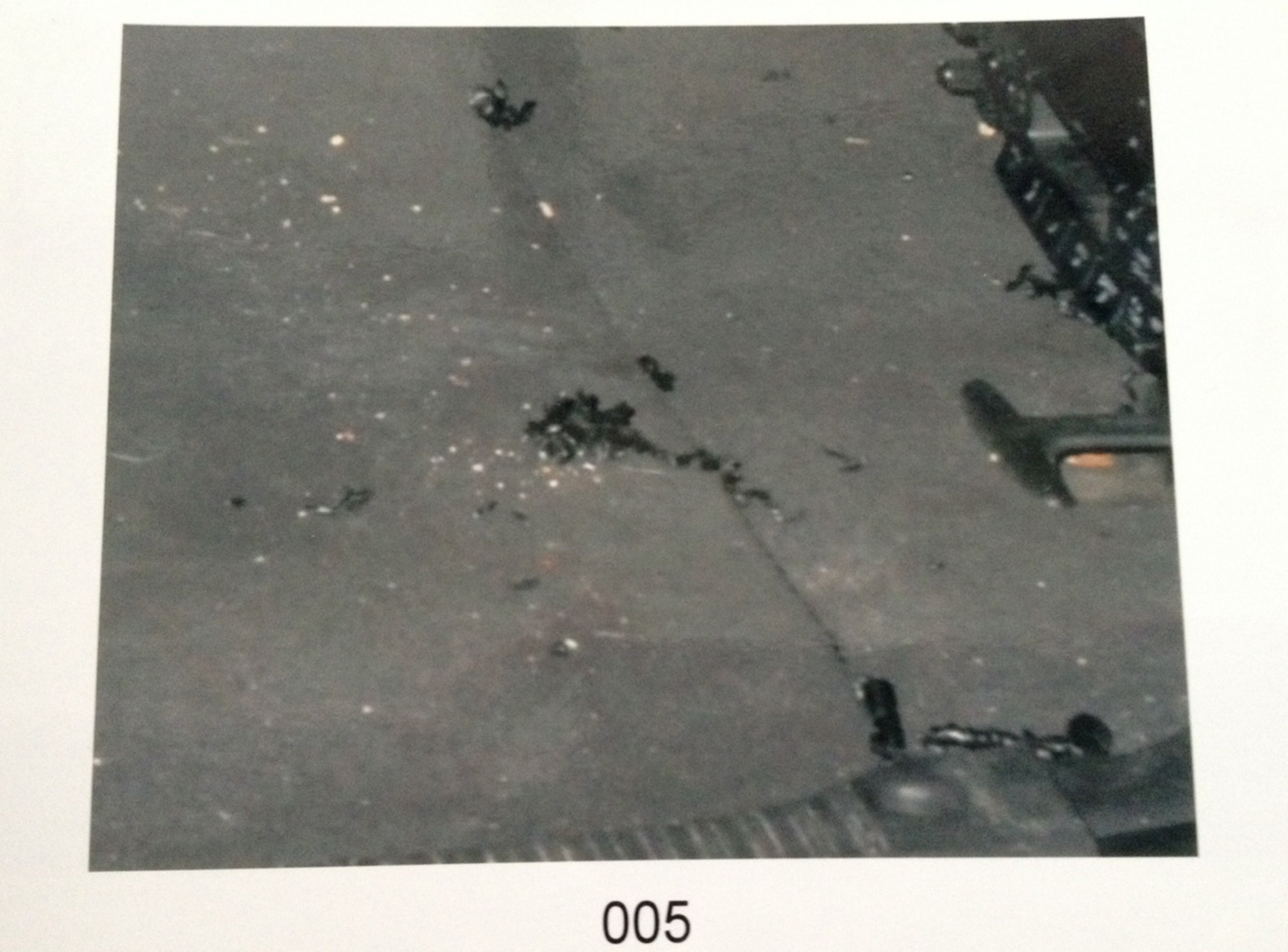 This Winnipeg police photo of black plastic curls found in the back of Chad Davis's Jeep are all that remains of what may have been evidence relating to the lid of the barrel he was found dead in. Police, initially believing he was a missing person and not a homicide victim, didn't keep the plastic bits.