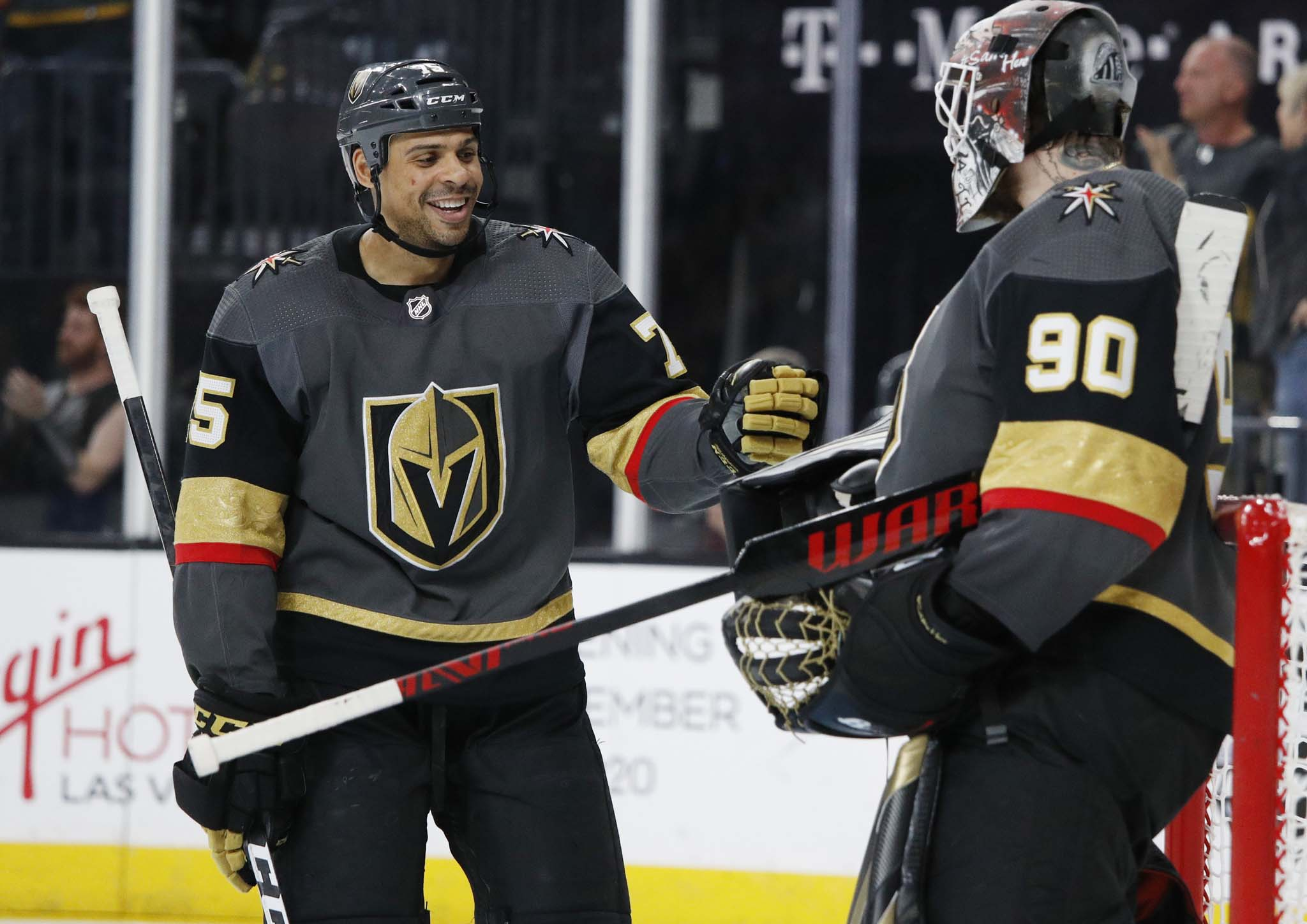 Ryan Reaves, left, led the way last summer in the Edmonton bubble following the killing of George Floyd.