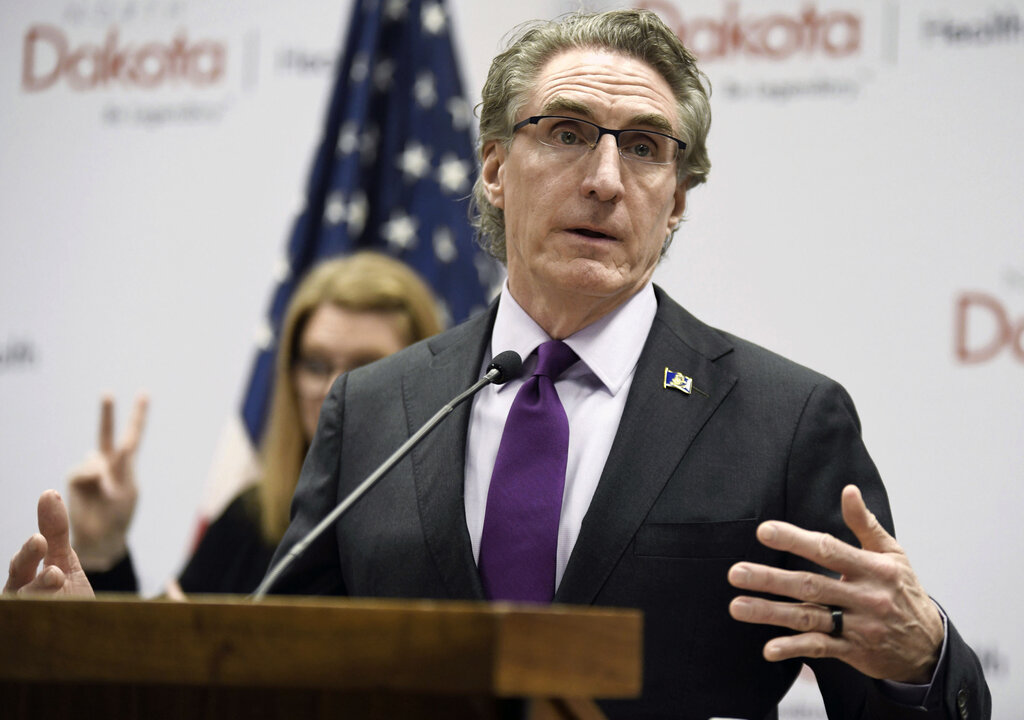 North Dakota Gov. Doug Burgum was reluctant to make mask use mandatory. (Mike McCleary/The Bismarck Tribune files)