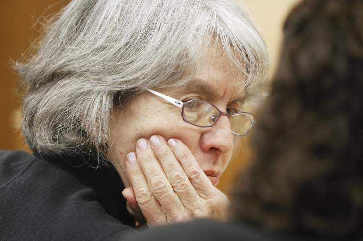 Sheila Block, who is representing Judge Lori Douglas during her review at the Federal Court, Saturday.