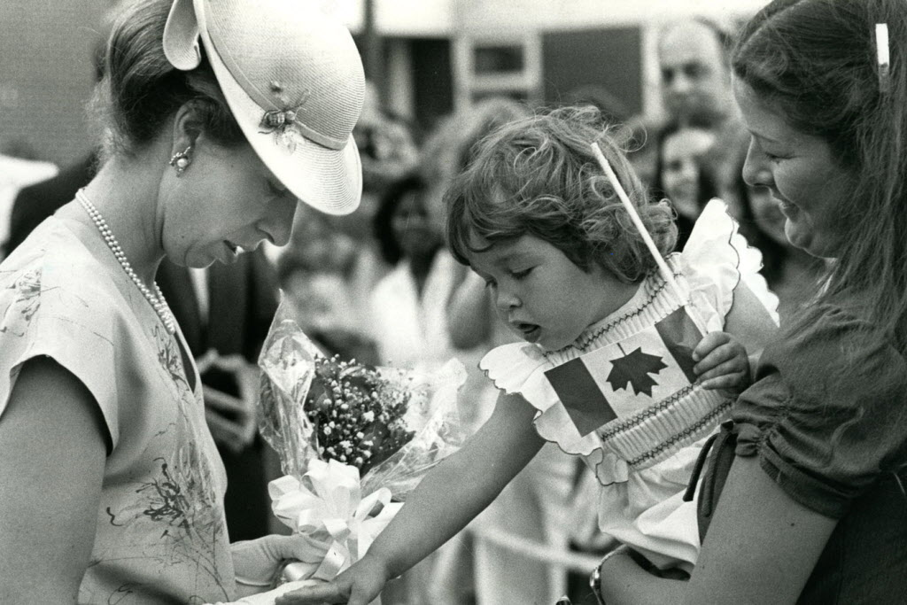Princess Anne meets the public in Selkirk during the 1982 Royal Tour.