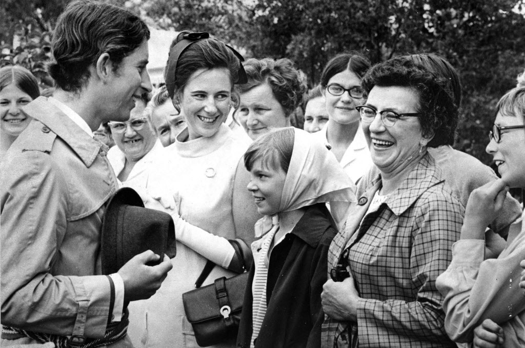 Prince Charles at the Holy Family Home in Winnipeg in 1970.