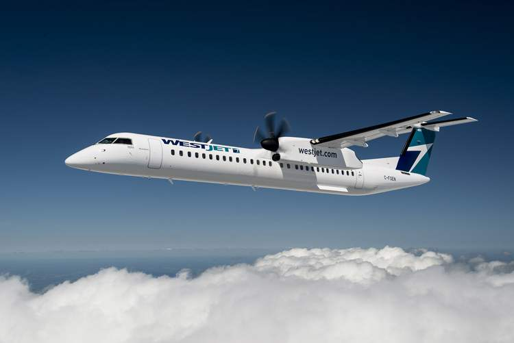 WestJet Encore's Q400 has 78 seats, making it a better fit for the regional routes than previously employed, higher-capacity jets.