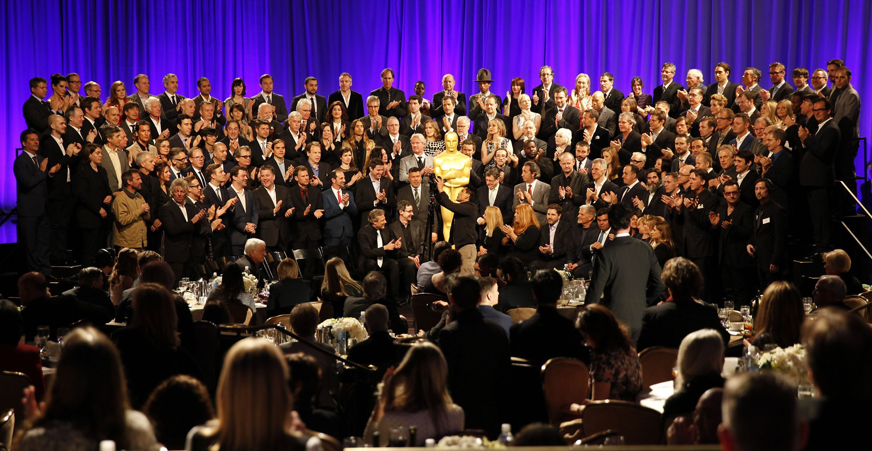 The 2014 class portrait at the 86th Annual Oscar Nominees Luncheon.