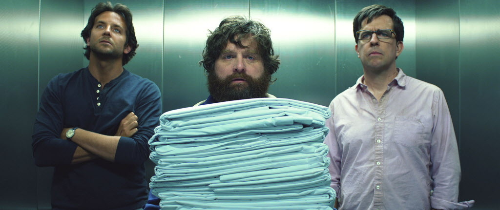 These guys really aren't much fun to hang out with: Bradley Cooper, from left, Zach Galifianakis and Ed Helms star in 'The Hangover Part III.'