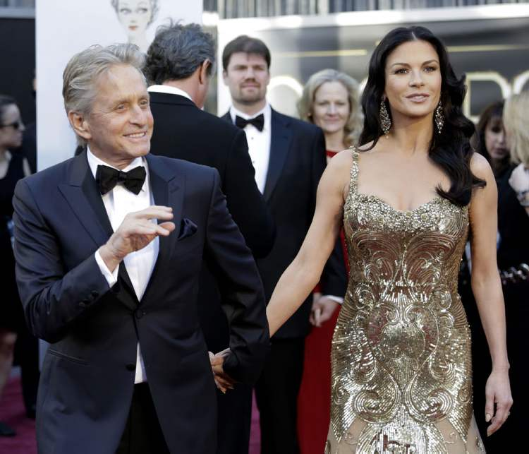 Michael Douglas and wife actress Catherine Zeta-Jones  (Jay L. Clendenin / Tribune Media MCT)