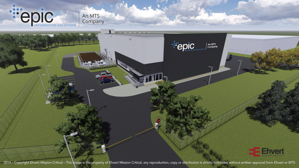 An artist's rendering of the $53-million data centre and cloud computing facility MTS and EPIC are building on Waverley Street. It's expected to be ready for operation by spring or summer next year.