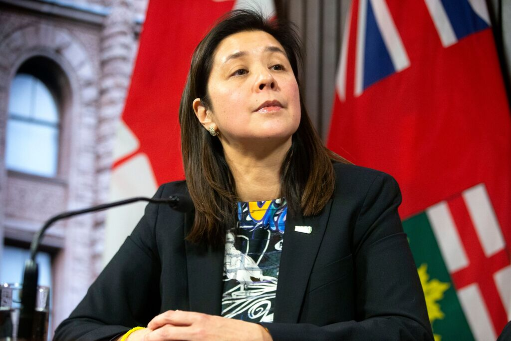 Dr. Eileen de Villa, Medical Officer of Health for the City of Toronto. THE CANADIAN PRESS FILES/Chris Young