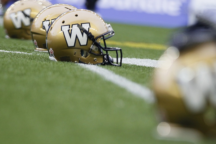 Investors Group Field was the scene of the Winnipeg Blue Bombers' season-opener against the Montreal Alouettes Thursday. (John Woods / The Canadian Press)