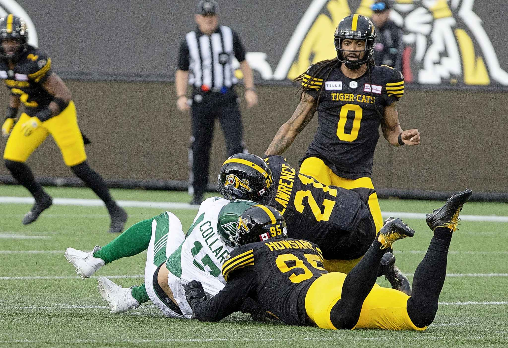 Zach Collaros got a concussion because of this late hit by Simoni Lawrence, who was suspended for two games, while Collaros didn't play again until he joined the Bombers a few weeks ago. (Peter Power / The Canadian Press files)