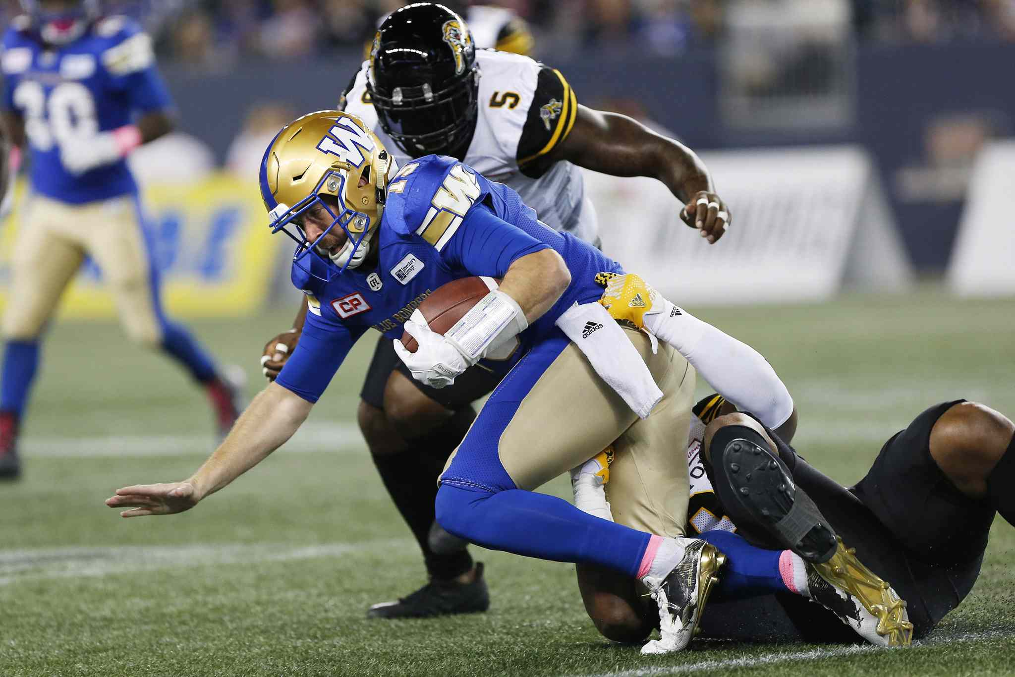Nichols broke his finger during the Oct. 6 game against the Hamilton Tiger-Cats.