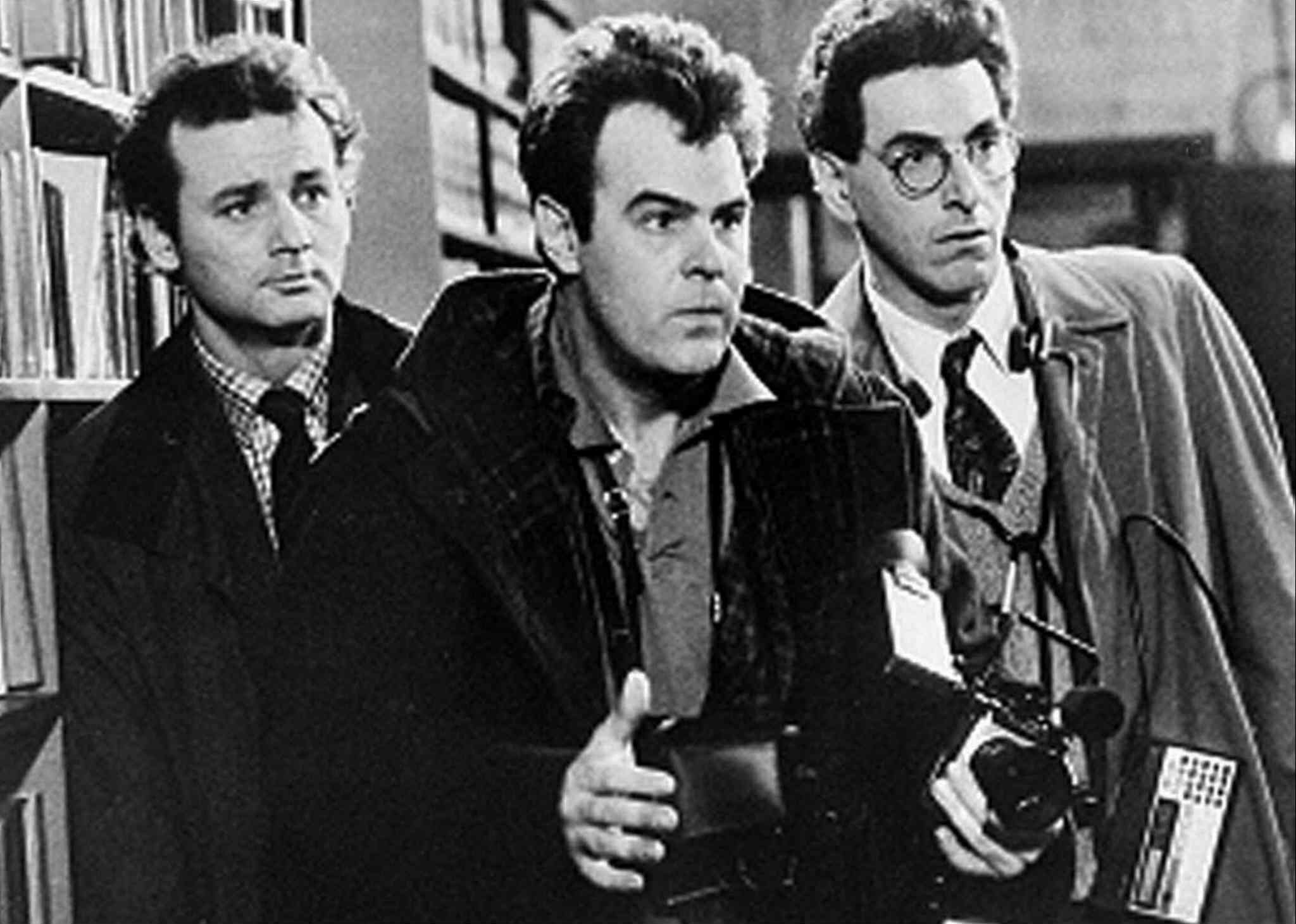 Bill Murray (left to right), Dan Aykroyd and Harold Ramis appear in a scene from the 1984 movie Ghostbusters. If there's something strange in your neighbourhood this summer, it might just be the beloved comedy Ghostbusters returning to theatre screens for a limited engagement.