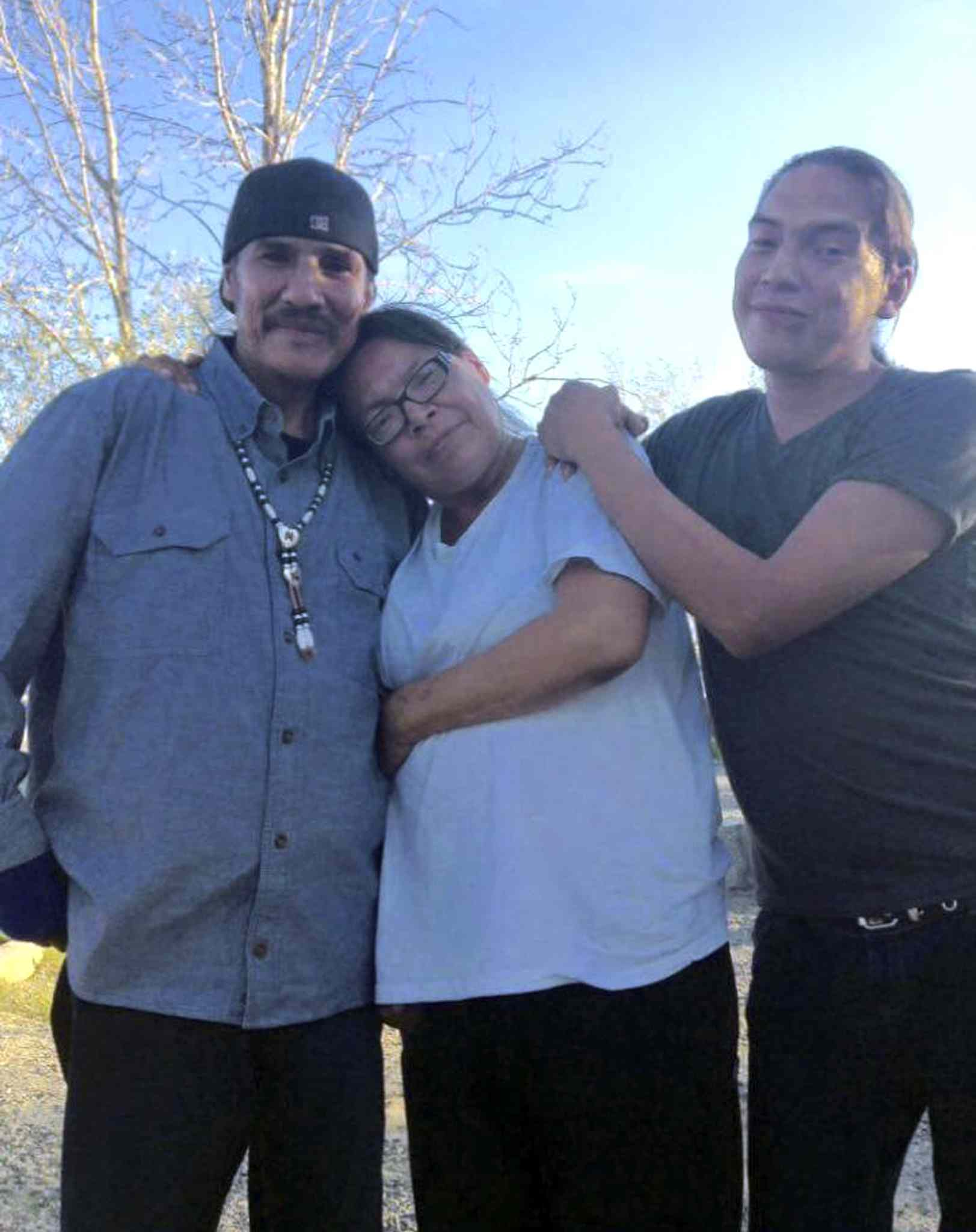 The bodies of three adults were discovered in the rubble of a home destroyed by fire early Tuesday morning (December 29, 2015) at Bunibonibee Cree Nation in northern Manitoba. In photo are victim James Crane, Sandra Crane (James' wife who was not home at the time) and victim Jamie Crane (Son of James and Sandra). Also dead is Jastidee Sinclair (not in photo).