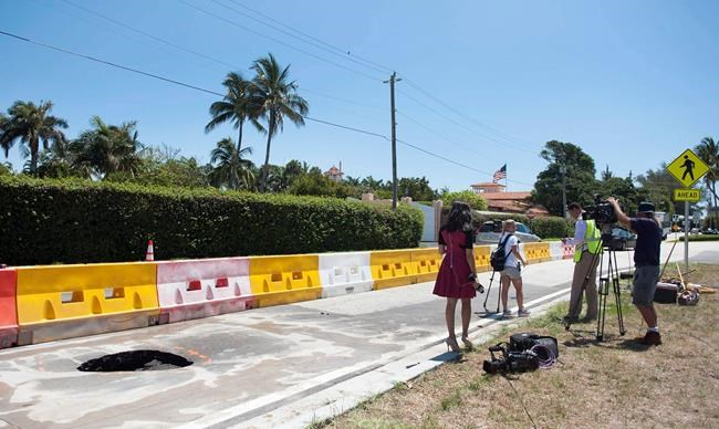 Sinkhole opens up in front of Trump's Mar-a-Lago resort