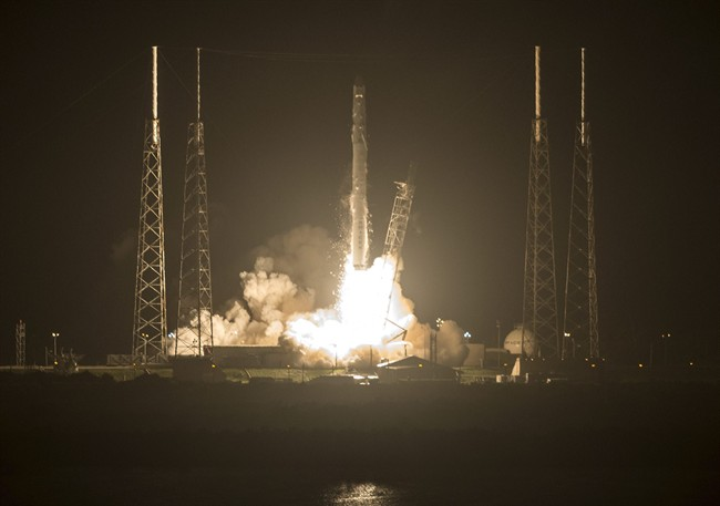 A SpaceX Falcon 9 rocket lifts off from Cape Canaveral Air Force Station, FL Sunday, Sept. 21, 2014. The rocket is carrying supplies for the International Space Station.