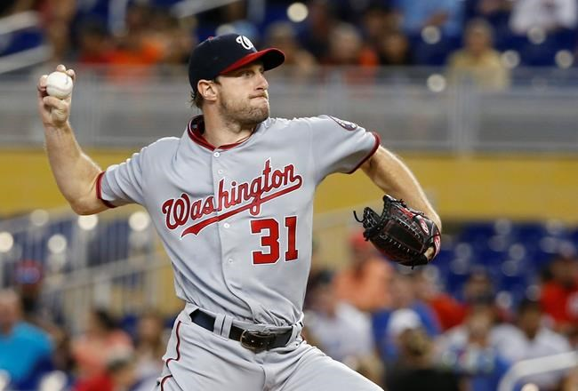 Nationals' Max Scherzer loses no-hitter in eighth on fluky hit
