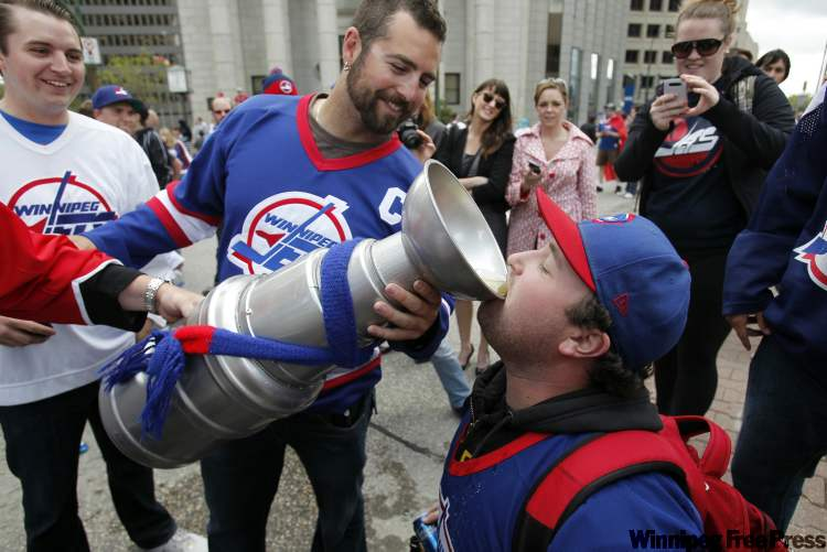 Many fans were toasting NHL's return.