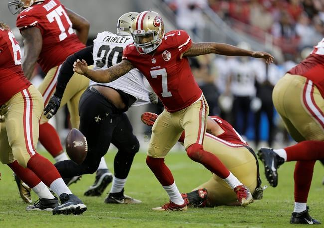 Kaepernick's best play Sunday may have come after the game
