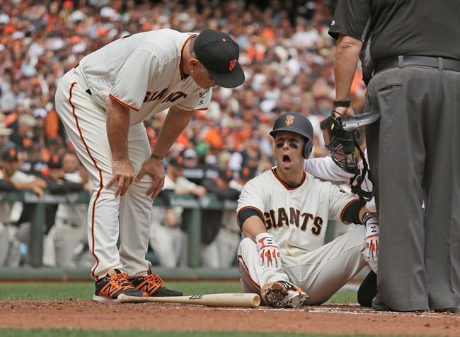 Giants place Buster Posey (head) on concussion disabled list